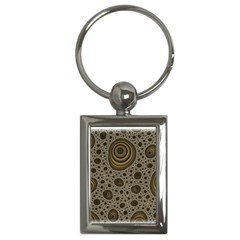 White Vintage Frame With Sepia Targets Key Chains (Rectangle)