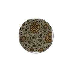 White Vintage Frame With Sepia Targets Golf Ball Marker