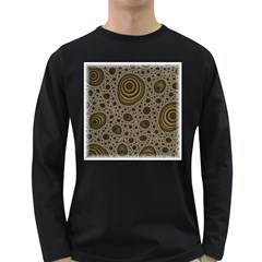 White Vintage Frame With Sepia Targets Long Sleeve Dark T Shirts