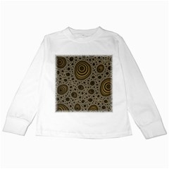 White Vintage Frame With Sepia Targets Kids Long Sleeve T-Shirts