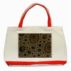 White Vintage Frame With Sepia Targets Classic Tote Bag (red)