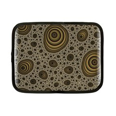 White Vintage Frame With Sepia Targets Netbook Case (Small)