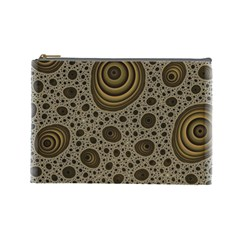 White Vintage Frame With Sepia Targets Cosmetic Bag (Large)