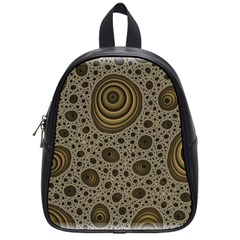 White Vintage Frame With Sepia Targets School Bags (Small)