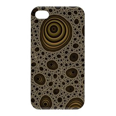 White Vintage Frame With Sepia Targets Apple iPhone 4/4S Hardshell Case