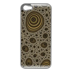 White Vintage Frame With Sepia Targets Apple Iphone 5 Case (silver)