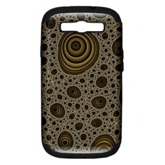 White Vintage Frame With Sepia Targets Samsung Galaxy S Iii Hardshell Case (pc+silicone)