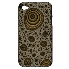 White Vintage Frame With Sepia Targets Apple Iphone 4/4s Hardshell Case (pc+silicone)