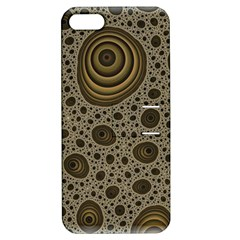 White Vintage Frame With Sepia Targets Apple Iphone 5 Hardshell Case With Stand