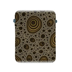 White Vintage Frame With Sepia Targets Apple Ipad 2/3/4 Protective Soft Cases