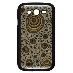 White Vintage Frame With Sepia Targets Samsung Galaxy Grand Duos I9082 Case (black)