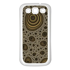White Vintage Frame With Sepia Targets Samsung Galaxy S3 Back Case (white)