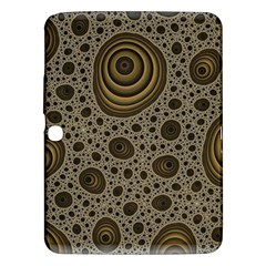 White Vintage Frame With Sepia Targets Samsung Galaxy Tab 3 (10.1 ) P5200 Hardshell Case