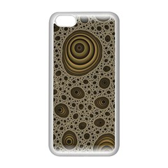 White Vintage Frame With Sepia Targets Apple Iphone 5c Seamless Case (white)