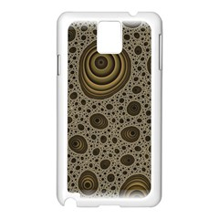 White Vintage Frame With Sepia Targets Samsung Galaxy Note 3 N9005 Case (white)