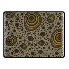 White Vintage Frame With Sepia Targets Double Sided Fleece Blanket (Small)