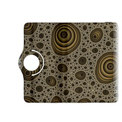 White Vintage Frame With Sepia Targets Kindle Fire HDX 8.9  Flip 360 Case