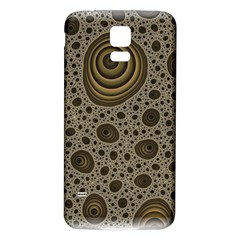 White Vintage Frame With Sepia Targets Samsung Galaxy S5 Back Case (white)