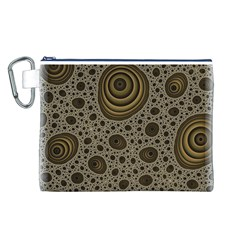 White Vintage Frame With Sepia Targets Canvas Cosmetic Bag (L)