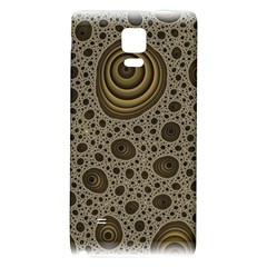White Vintage Frame With Sepia Targets Galaxy Note 4 Back Case