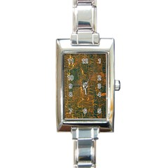 Black And Yellow Color Rectangle Italian Charm Watch