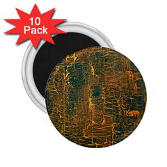 Black And Yellow Color 2.25  Magnets (10 pack)