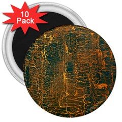Black And Yellow Color 3  Magnets (10 Pack)