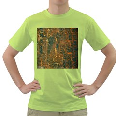 Black And Yellow Color Green T Shirt