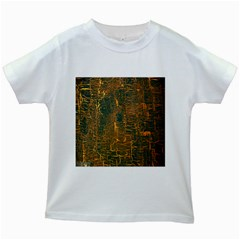 Black And Yellow Color Kids White T Shirts