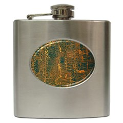 Black And Yellow Color Hip Flask (6 oz)