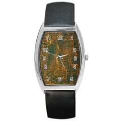Black And Yellow Color Barrel Style Metal Watch