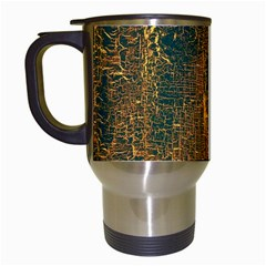 Black And Yellow Color Travel Mugs (White)