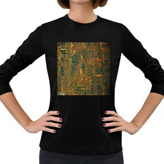 Black And Yellow Color Women s Long Sleeve Dark T Shirts