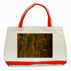 Black And Yellow Color Classic Tote Bag (red)