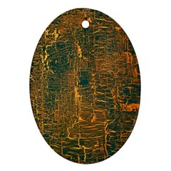 Black And Yellow Color Oval Ornament (Two Sides)