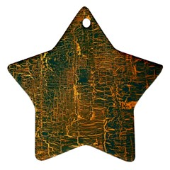 Black And Yellow Color Star Ornament (Two Sides)