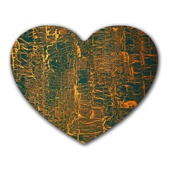 Black And Yellow Color Heart Mousepads