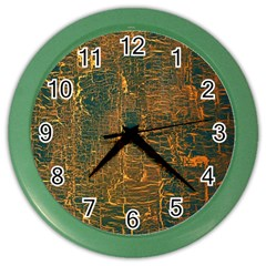 Black And Yellow Color Color Wall Clocks