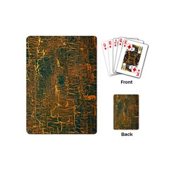 Black And Yellow Color Playing Cards (Mini)
