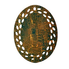 Black And Yellow Color Ornament (oval Filigree)