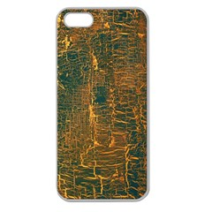 Black And Yellow Color Apple Seamless Iphone 5 Case (clear)