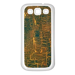 Black And Yellow Color Samsung Galaxy S3 Back Case (White)