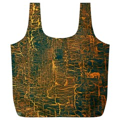 Black And Yellow Color Full Print Recycle Bags (l)