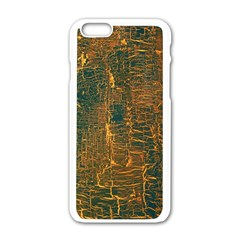 Black And Yellow Color Apple Iphone 6/6s White Enamel Case