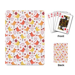 Happy Birds Seamless Pattern Animal Birds Pattern Playing Card