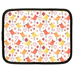 Happy Birds Seamless Pattern Animal Birds Pattern Netbook Case (XL)