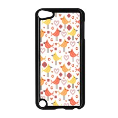 Happy Birds Seamless Pattern Animal Birds Pattern Apple Ipod Touch 5 Case (black)