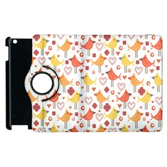 Happy Birds Seamless Pattern Animal Birds Pattern Apple Ipad 3/4 Flip 360 Case