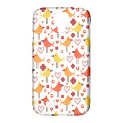 Happy Birds Seamless Pattern Animal Birds Pattern Samsung Galaxy S4 Classic Hardshell Case (PC+Silicone)