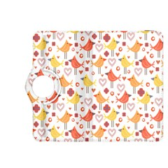Happy Birds Seamless Pattern Animal Birds Pattern Kindle Fire HDX 8.9  Flip 360 Case
